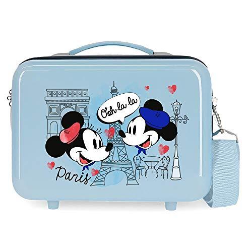 Disney Topolino Let's Travel Trousse adattabile blu 29 x 21 x 15 cm...