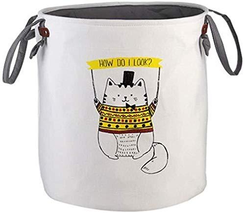 ZXvbyuff Toy Basket archiviazione della Lavanderia del Tessuto Secchio sporchi di immagazzinaggio dei Vestiti della Benna Sporco del Cestino di Vestiti Debris Carrello Bambini Bagagli Bucket (Motivo: