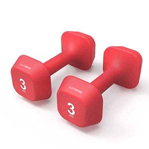 WAGA Mancuernas Cuatro Esquinas Pesas (par) la Aptitud de Hierro Fundido sólido Mancuernas Adecuado for Gimnasia/Home/Aptitud Oficina o el Uso de Yoga Mancuernas Fitness