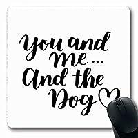 マウスパッド長方形7.9x9.8ペット犬の採用かわいい手書きのレタリングブラシテキスト友人動物カリグラフィグリーティングクリエイティブノンスリップゴムマウスパッドオフィスコンピューターラップトップゲームマット