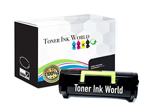 TIW 60F1H00, 601H Replacement Black Toner Cartridge for Lexmark MX310, MX310dn, MX410, MX410de, MX510, MX510de, MX511de, MX610, MX610DE Printers High Yield 10000 Page Printing.