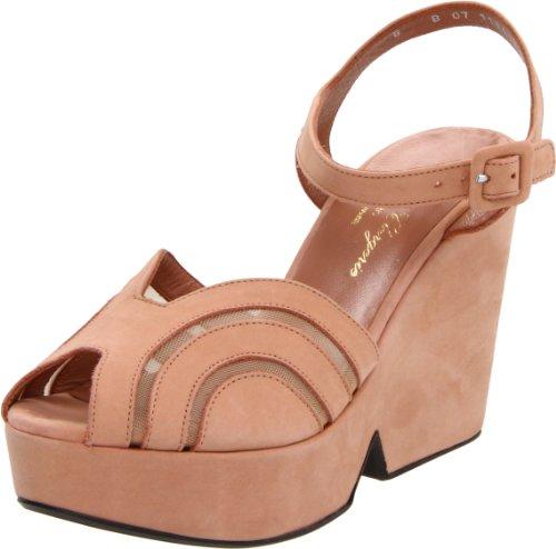 Robert Clergerie Women's Dinato Ankle-Strap Sandal,Blush,6.5 B US