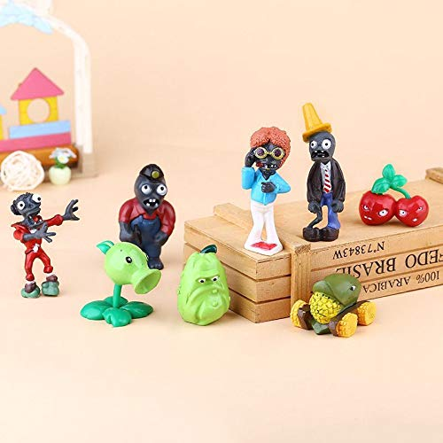 Plants vs Zombies Cake Topper Toy | 8 Piece Action Figure Set | PVZ Figurine Collectible Model