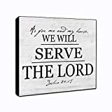 "LACOFFIO As for Me and My House We Will Serve The Lord Wall Decor Plaque 6"" x 6'"
