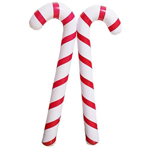 primrosely Gonfiabili 88 cm bastoncini di zucchero di Natale per asta di Natale, bastoncini gonfiabili, bastoncini di zucchero di Natale per decorazioni natalizie insolite