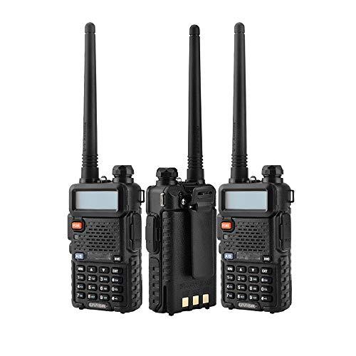 HUIGE Walkie talkies Licencia-Libre de Dos vías de Radio 16 Canales de exploración Tot con Cargador USB y Auriculares