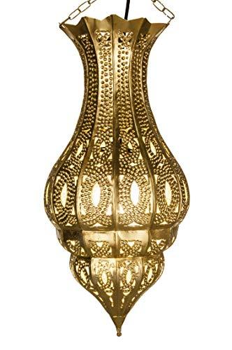 Oosterse lamp hanglamp goud Djamir 47cm E27 lampfitting | Marokkaans design hanglamp lamp lamp uit Marokko | Orient lampen voor woonkamer, keuken of hangend boven de eettafel