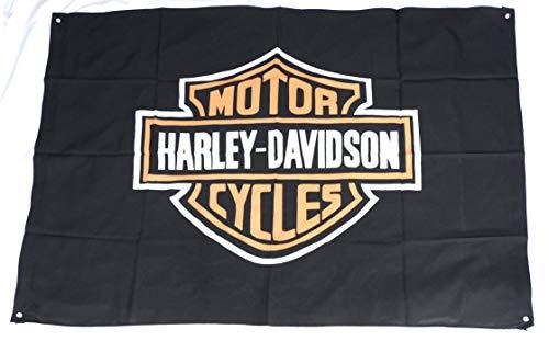 Bandera de tela de poliéster grande con logotipo de Harley Davidson Motorcycles (115 cm x 78 cm)