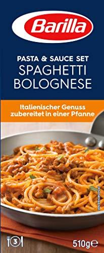 Barilla Pasta & Sauce Set Spaghetti Bolognese, 7er Pack (7 x 510 g)