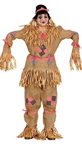 Guirca- Disfraz adulto espantapájaros, Talla 52-54 (80208.0)
