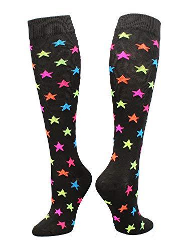 TCK Krazisox Multi-Color Stars (Black, Medium)