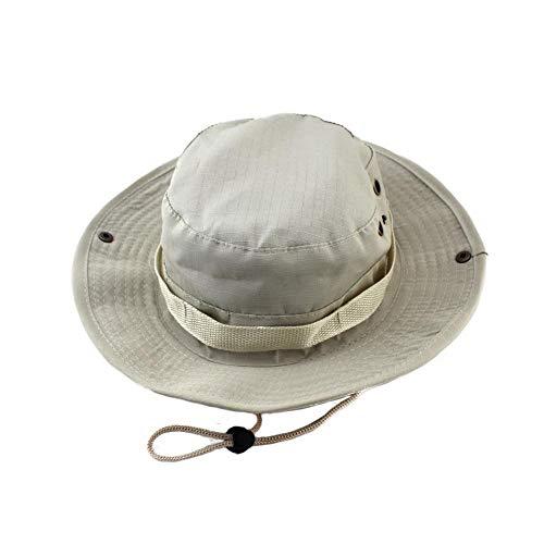 Bucket Hat Chapeau Chapeaux De Seau Unisexe Jungle Militaire Camouflage Camo Chapeau Pêche Barbecue Coton Chapeau d'escalade De Montagne Beige