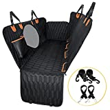 """HAMMOCK WITH SIDE FLAPS: The dog backseat cover is easy to convert between dog car hammock and standard bench coverage which allows you share the backseat with your dog. Excellent size of 54""""W x 58"""" L, compatibile with different vehicles, car, truck,..."""