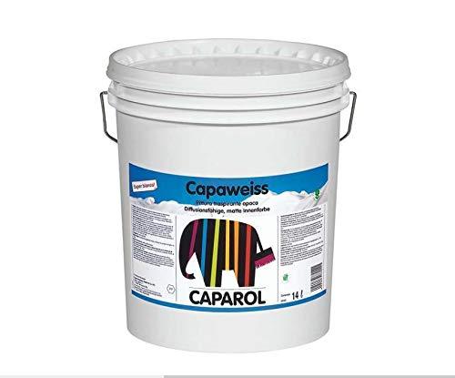 Caparol - Capaweiss Pittura Lavabile e Traspirante con Elevato Punto di Bianco - 14lt