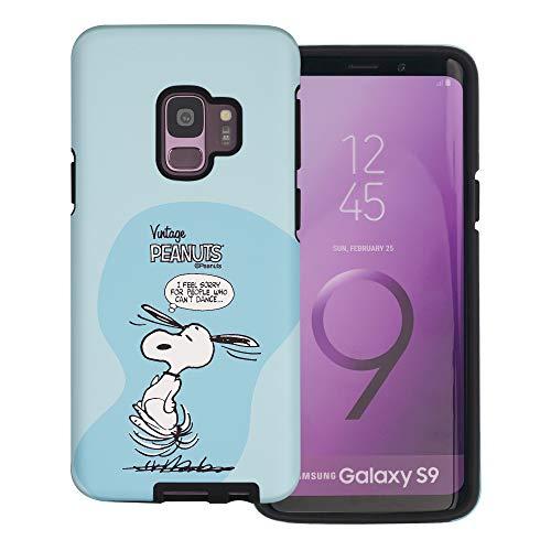 Galaxy S9 Plus ケース と互換性があります Peanuts Snoopy ピーナッツ スヌーピー ダブル バンパー ケース デュアルレイヤー 【 ギャラクシー S9 プラス ケース 】 (漫画 スヌーピー ダンス) [並行輸入品]