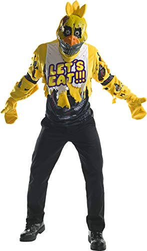 Rubie's Men's Five Nights at Freddy's Deluxe Nightmare Chica Costume, As Shown, Standard
