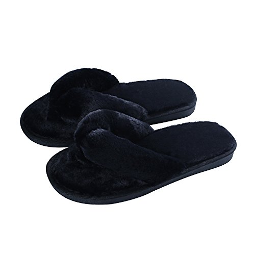 MStar Mujer Elegante Bettenhaus Zapatos Warmer Peluche Chanclas algodón Pantuflas Antideslizantes Guantes para otoño/Invierno