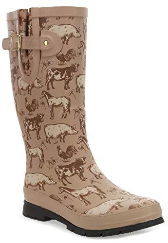 Western Chief Women s Printed Tall Rain Boot  Friendly Farm  9