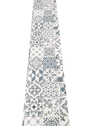 LaVelaHOME Tappeto Cucina a metraggio PVC Largo 50 cm marmette cementine azulejo (Arabesco1)