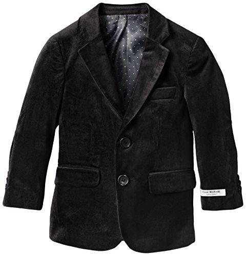 Isaac Mizrahi Little Boys' Solid Velvet Blazer, Black, 2