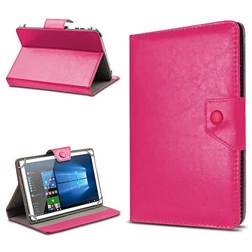 UC-Express Tablet Hülle für 10 Zoll Universal Hülle Cover Schutzhülle Kunstleder Tasche Etui, Farben:Pink, Tablet Modell für:Odys Visio