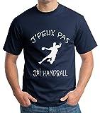 Gazol T-Shirt Handball. J'peux Pas J'Ai Handball. Idée Cadeau handballeur. T-Shirt Homme Coton col Rond.
