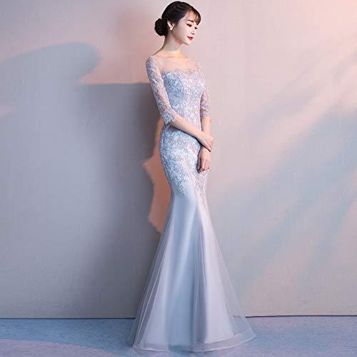BINGQZ Jurk/Cocktailjurken/Casual Host jurk vrouwelijke avondfeest lange visstaart elegante elegante partij grijze jurk
