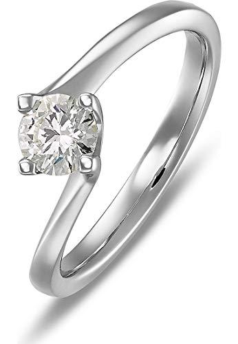 CHRIST Diamonds Damen-Damenring 585er Weißgold 1 Diamant 56 Weißgold 32005628