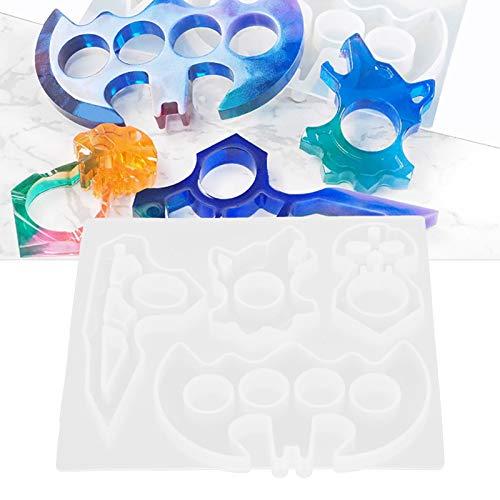 Ufolet Molde de Cristal epoxi, Compatible con la mayoría de los Materiales de fundición, moldes de fundición de Resina Reutilizables y duraderos, Suave para Regalos caseros