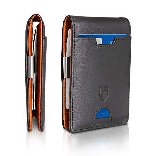 Inmorven Mini Portemonnee Heren met Geldclip Premium Lederen Portemonnee Heren Portemonnee Slanke Portemonnee Portemonnee RFID Portemonnee Creditcardhouder Kaarthouder