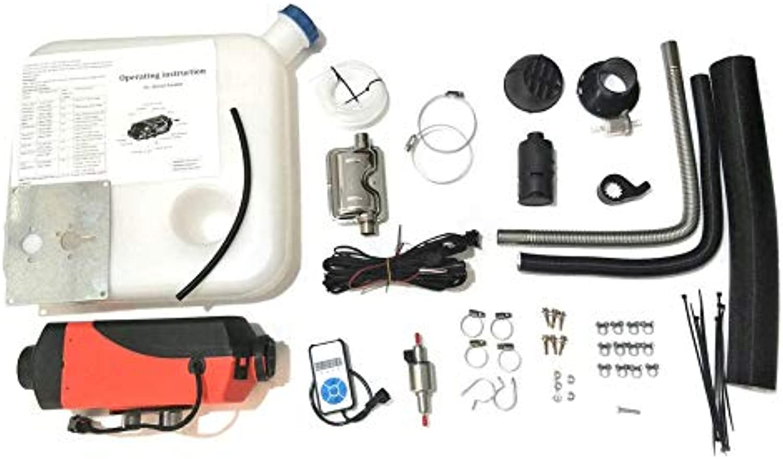 WEIWEITOE -UK 12V 2KW Parkeringaa Diesel Air Heater Single -hole Switch med Muffler Universal for Tank Vent Duct Thermostat bilavan