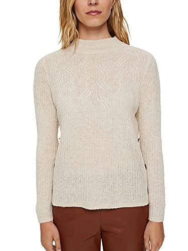 ESPRIT Mit Wolle: Pullover mit Zopfmuster