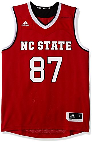 NCAA North Carolina State Wolfpack Adult Men Replica Basketball Jersey XX-Large,Red