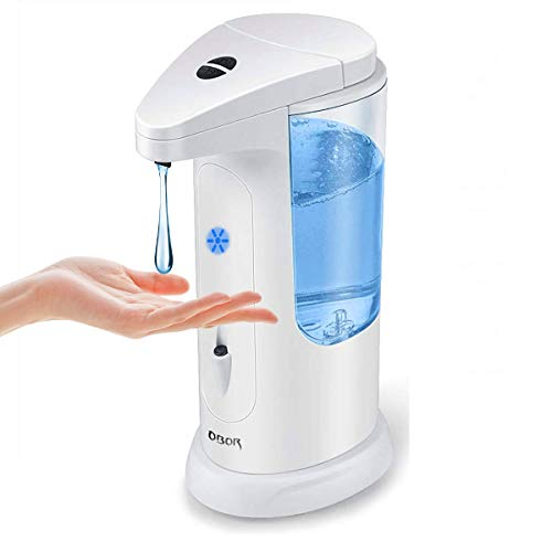 OBOR Automatic Soap Dispenser Touchless Smart Infrared Sensor Auto Soap Dispenser Hand Free for Home, School, Office and Hotel (White)