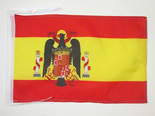 AZ FLAG Bandera de ESPAÑA DE Franco 1945-1977 45x30cm - BANDERINA FRANQUISTA ESPAÑOLA 30 x 45 cm cordeles