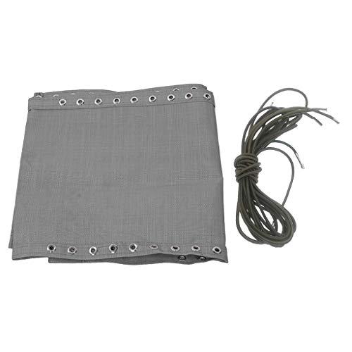 FLAMEER 4 Pezzi Lacci Corde Elastiche + 1 Pezzo Tessuto Resistente per Sedia Reclinabile di Giardino Accessori di Ricambio - C
