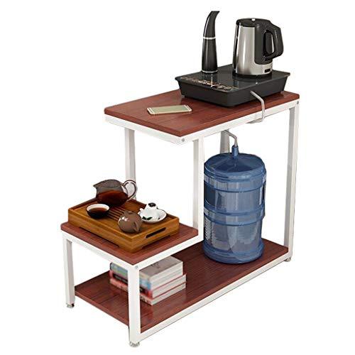 YULAN eenvoudige, moderne drielagige salontafel van staal en hout kan aan een kleine kant worden verplaatst.