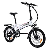 VIVI Bicicleta Electrica Plegable Urbana,350W Bici Electrica Urbana Ligera para Adulto,20' Plegable Ciudad Ebike con 36V 8A Batería extraíble,Shimano 7 velocidades,3 Modos,25km/h,50KM Gama
