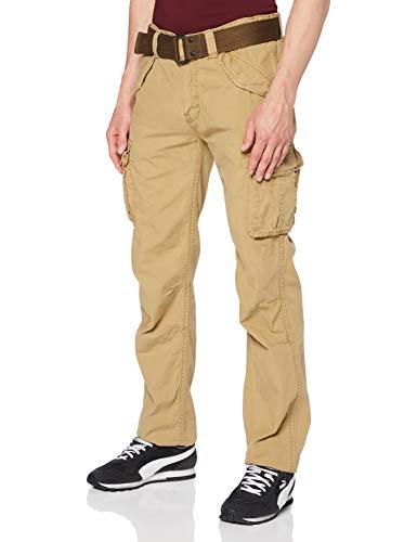 Schott (Brand National) Trbatle70pkr Pantaloni, Beige (Army Beige ARBE), W36 (Taglia Produttore: 36) Uomo