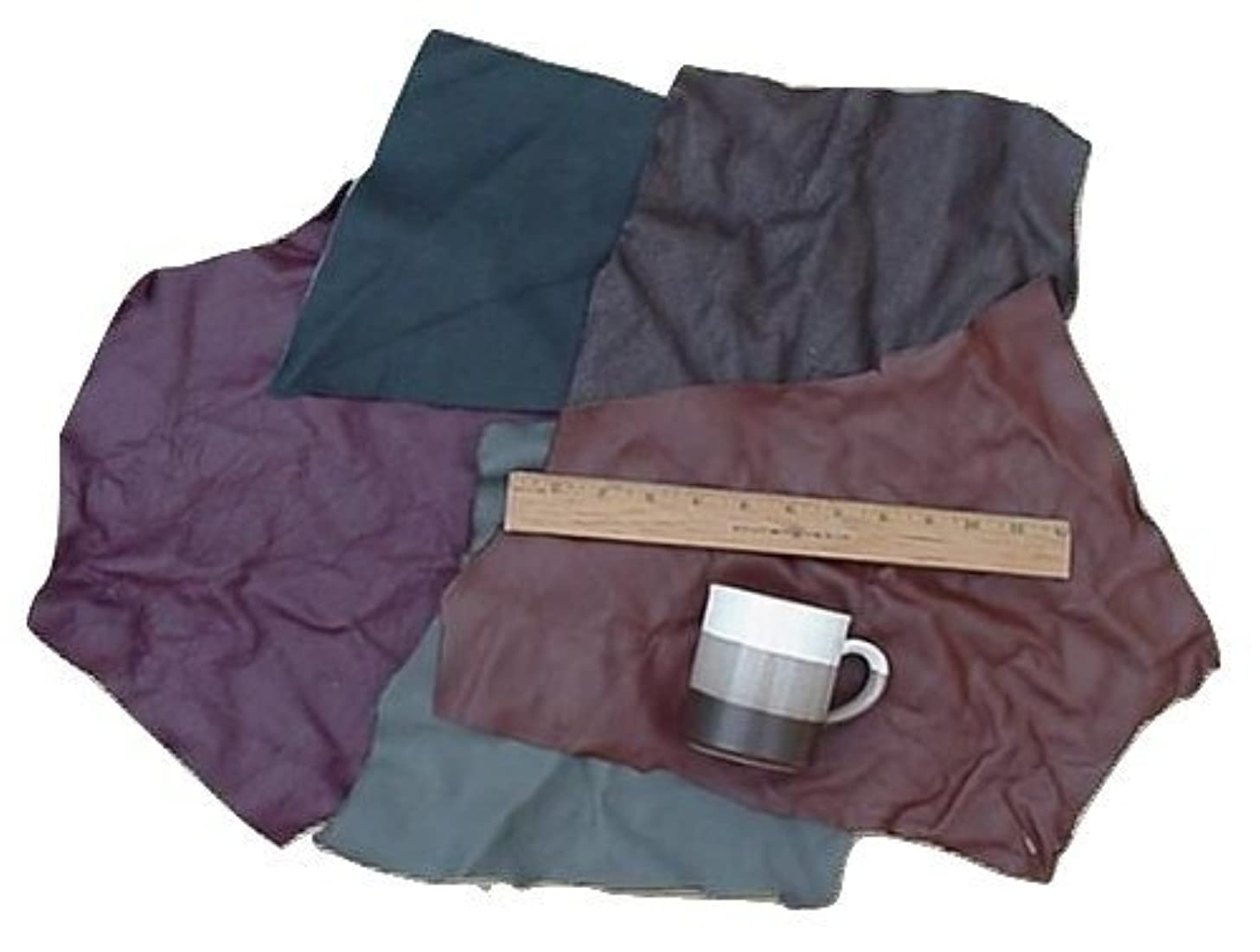 Scrap Upholstery Leather Mixed Large Pieces Light Weight 6 Square Feet