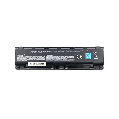 Bay Valley Parts 6-Cell 11.1V 5200mAh New Replacement Laptop Battery for Toshiba Satellite Pro C845 C845D C850 C850D C855 C855D PA5024U-1BRS