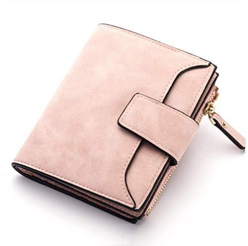 Monedero para mujer de piel de alta calidad, monedero, monedero, monedero, monedero, rosa (Rosa) - HJDFH749326