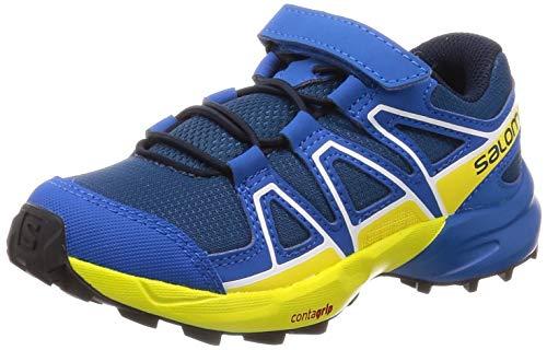 Salomon Kinder Trail Running Schuhe, SPEEDCROSS BUNGEE K, Farbe: blau/gelb (Poseidon/Sky Diver/Sulphur Spring), Größe: EU 27