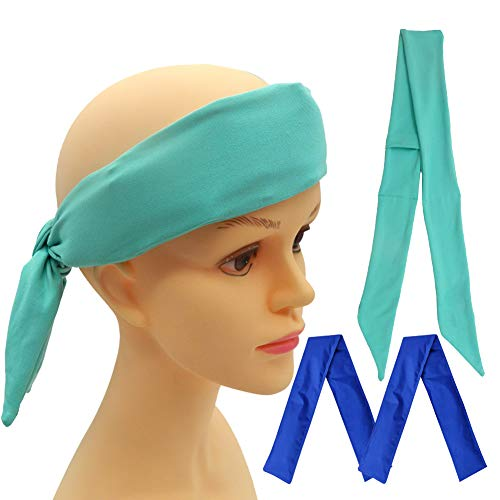 Neck Ice Wrap, Cooling Neck Wrap, Ice Bandana Cooling Ice Pack for Neck, Head, Shoulder, Belly (Blue4)