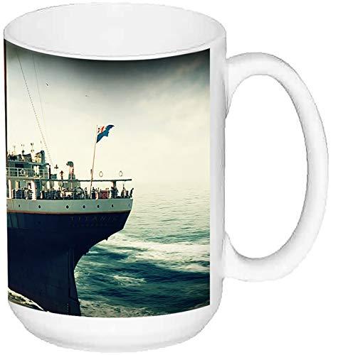 MasTazas Titanic Leonardo Dicaprio Kate Winslet A Großer Keramikbecher Tasse 15 oz ≈ 443 ml