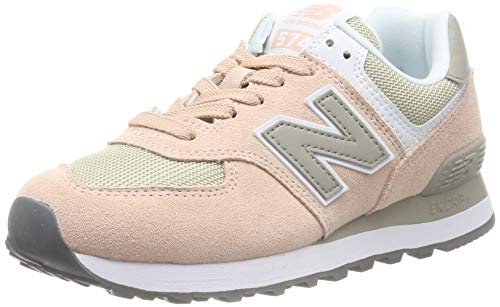 New Balance Damen WL574 B Sneaker, Grau (Grey/Pink Grey/Pink), 40 EU