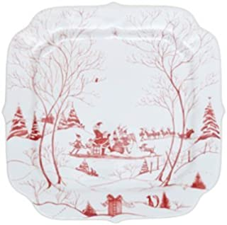 Country Estate Winter Frolic Ruby Gift Tray