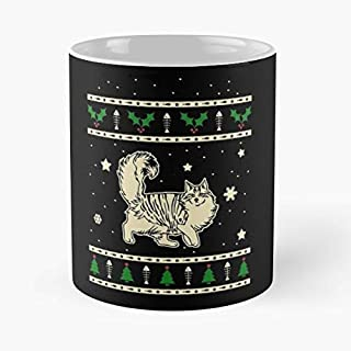 Norwegian Forest Cat Christmas Gift - Best Gift Coffee Mugs 11 Oz Father Day