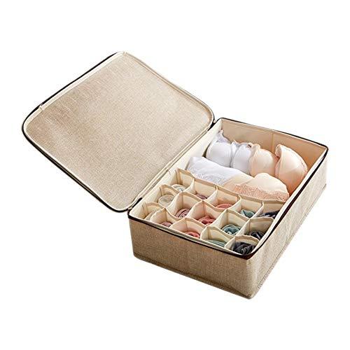Yadass Kleiderschrank Organizer, Aufbewahrungsboxen für Unterwäsche, Schrank Ordnungssystem, für Aufbewahren Socken, Schals, Büstenhalter- 40x30x12CM