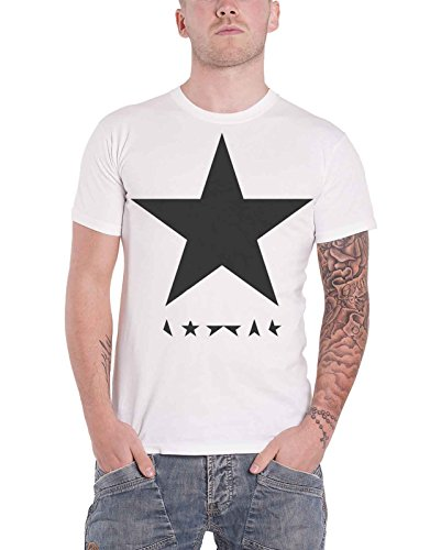 David Bowie T Shirt Blackstar Logo Album Cover offiziell Herren Nue